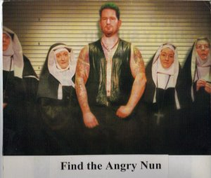 What does an angry man and some nuns have to do with data-driven news? You tell me, I just thought it would grab your attention.