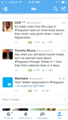 #Ferguson on Twitter.