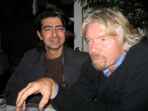 Pierre Omidyar and Richard Branson.